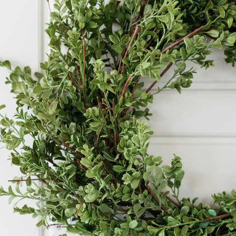 Serenity Boxwood Wreath