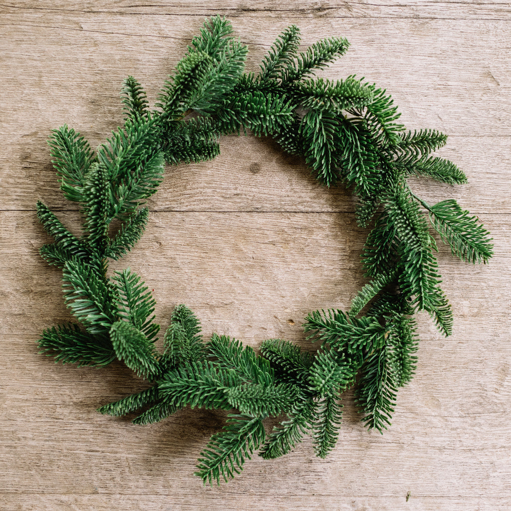 large faux fir wreath