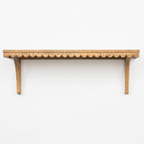 large wooden scalloped edge shelf