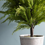 large artificial potted juniper tree