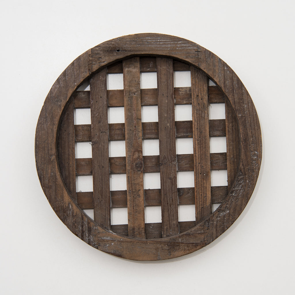 lattice wooden charger