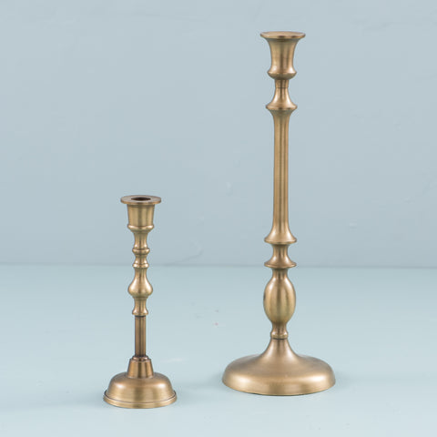gold finished candlestick