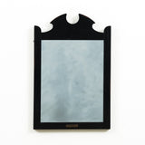 black wooden decorative mirror