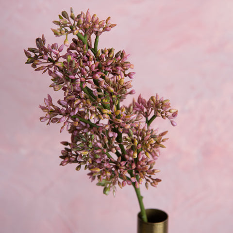 faux lilac bud spray