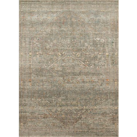 taupe and light blue distressed area rug