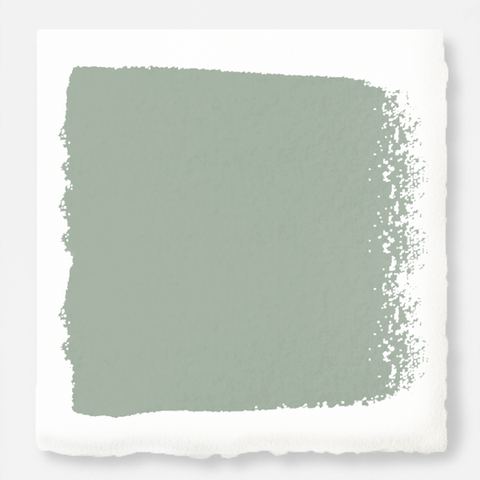 Washed mint green exterior paint