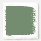 Bold and crisp green exterior paint