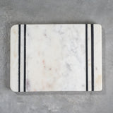 marble with black stripes cutting board