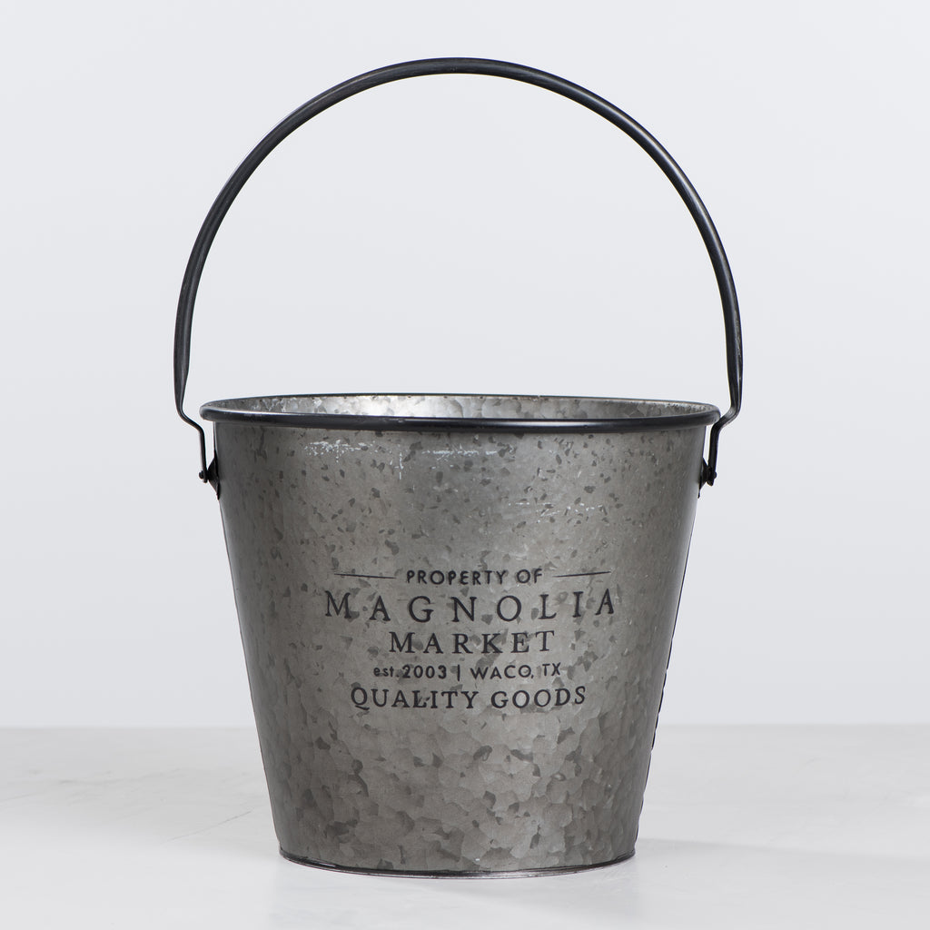 magnolia market galvanized milk bucket