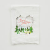 magnolia silos holiday tea towel