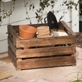 wooden garden crate with magnolia logo