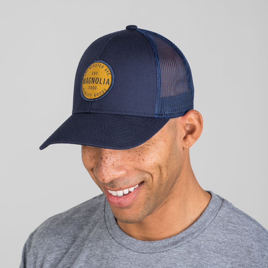 magnolia circle crest patch hat