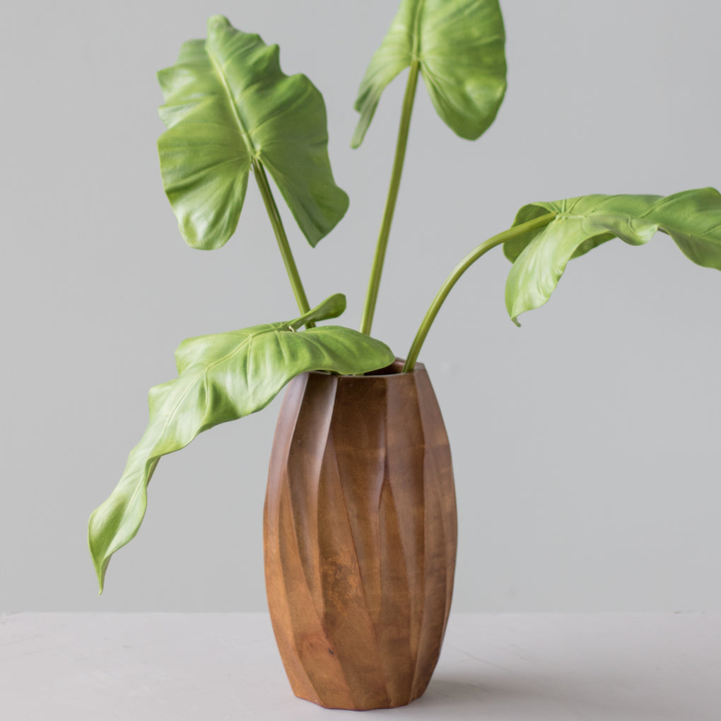 tall mango wood vase