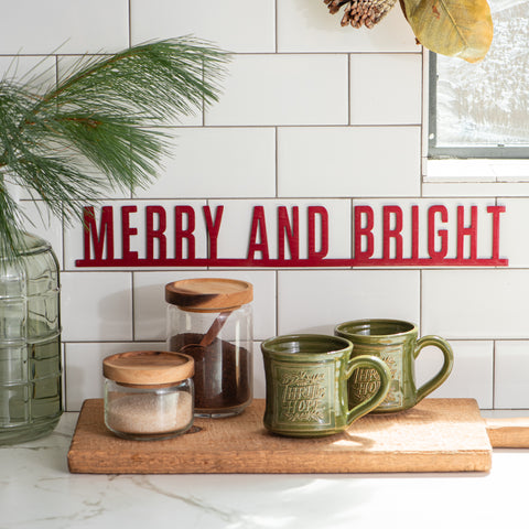 Merry and Bright Wall Expression