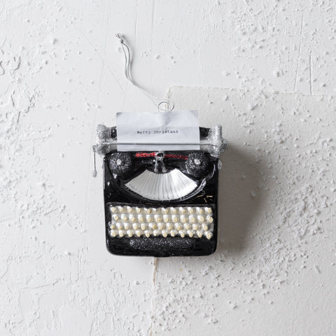 """Merry Christmas"" Typewriter Ornament"
