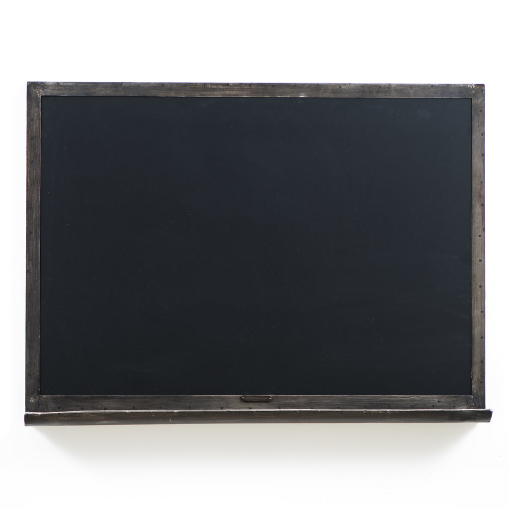 metal framed chalkboard
