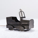 galvanized metal jeep christmas ornament