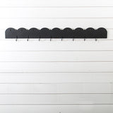 Black Schoolhouse Coat Rail