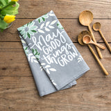 """May Good Grow"" Tea Towel"