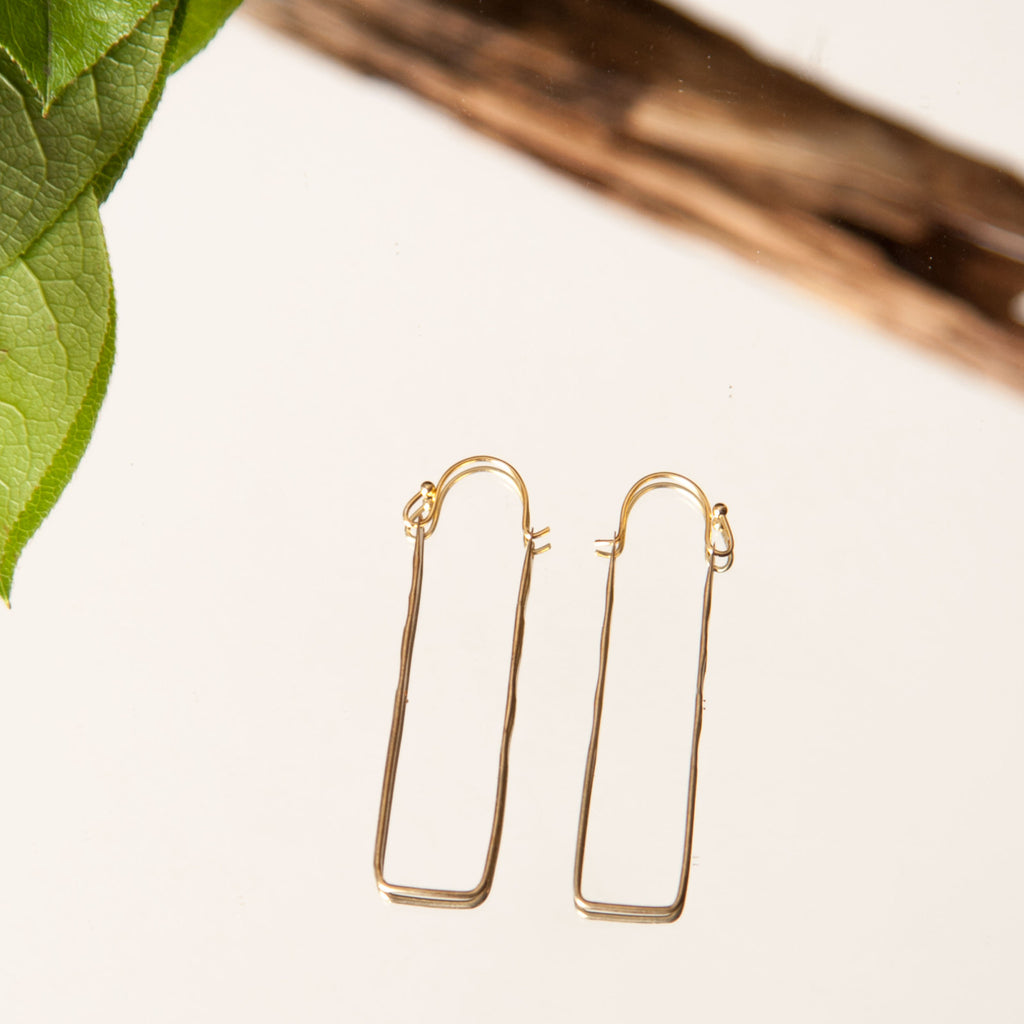 girls charming dangle long face wire abstract unique fashion item gold color earrings artsy earring outline