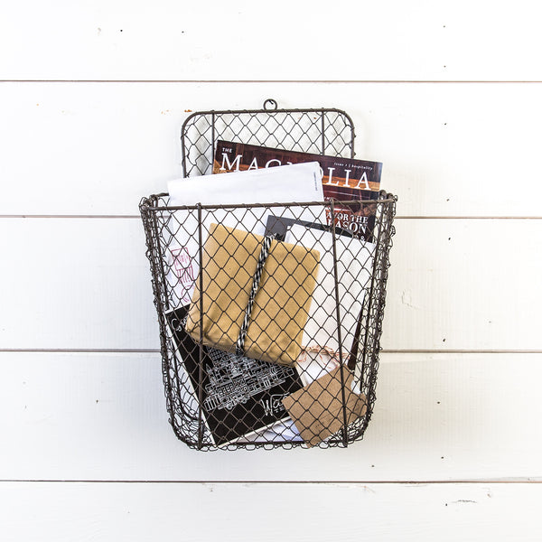 Wire Mail Wall Basket - Magnolia
