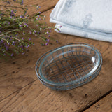 Wire and Glass Soap Dish