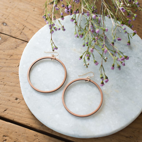 Wooden Loop Earrings