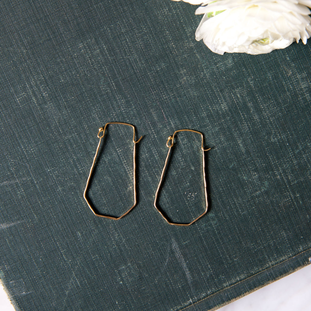 Delicate Brass Wire Earrings (INACTIVE)