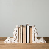 White Corbel Book Ends