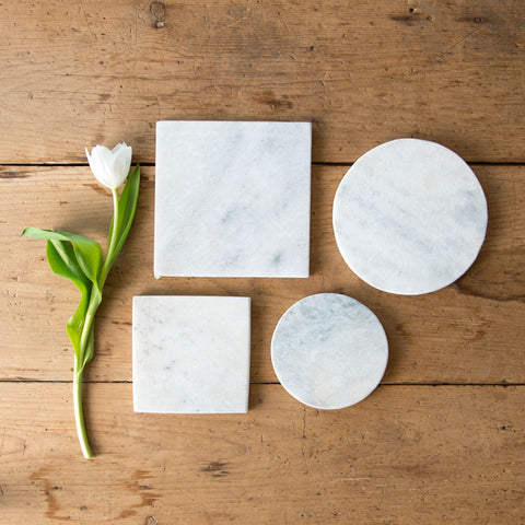 Rustic White Marble Base