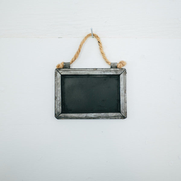 Mini Tin Framed Blackboard