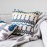 woven colorful striped pillow