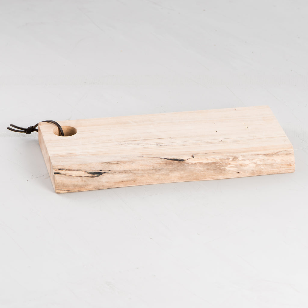 natural edge maple serving board