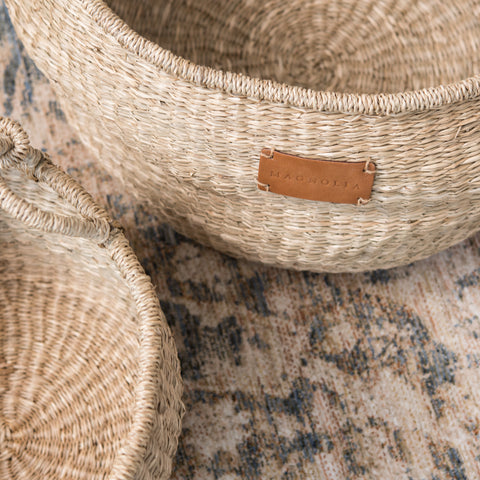 Natural Seagrass Basket Tote