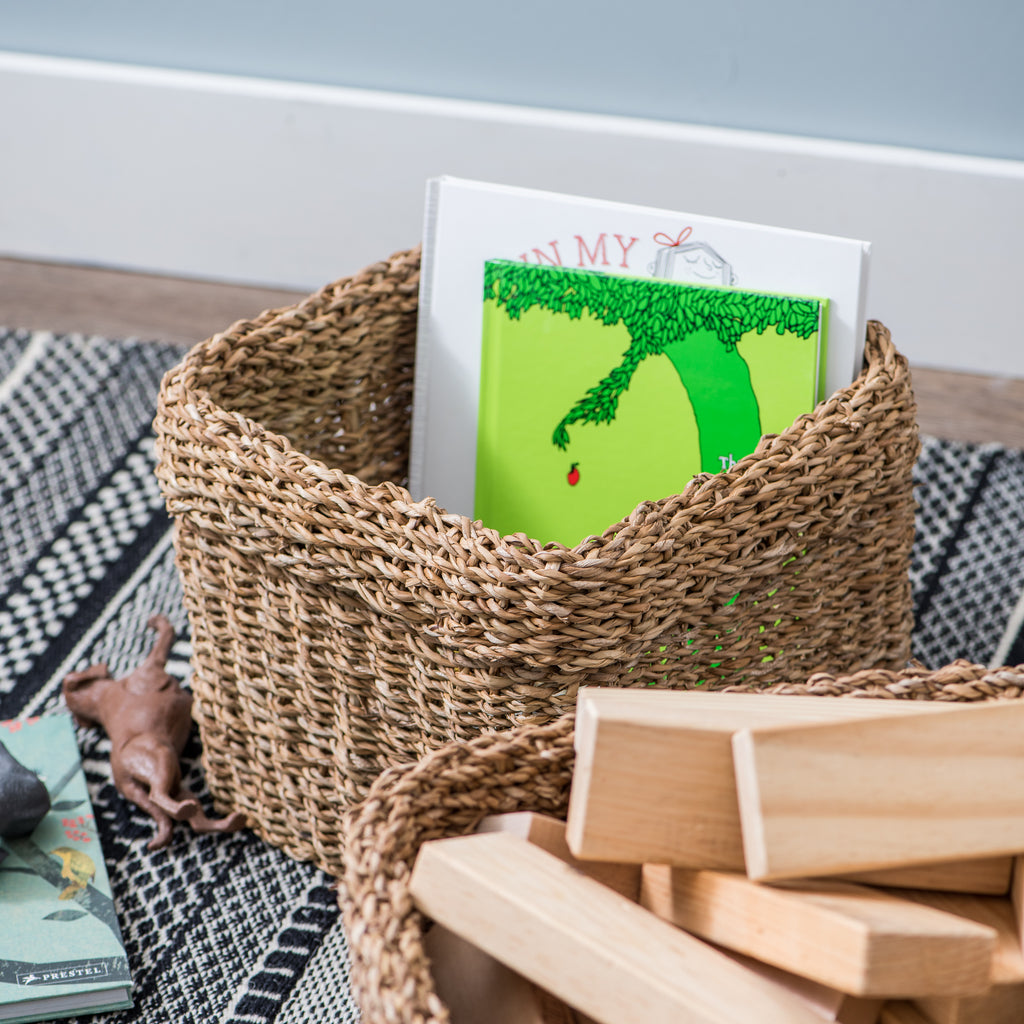 Shay Natural Woven Seagrass Basket