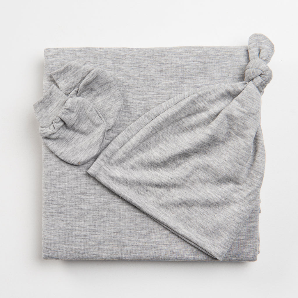 essential newborn bundle set for your newborn baby in heather gray