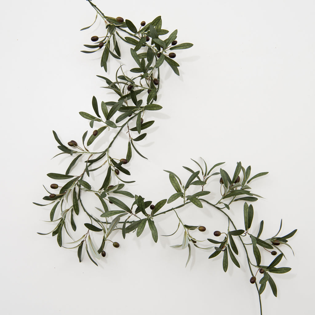 faux olive stem garland
