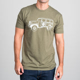 olive green magnolia jeep t-shirt