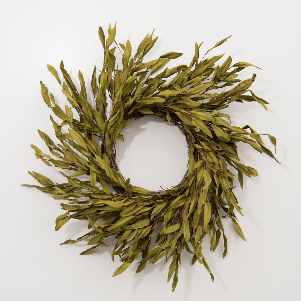 faux olive stem wreath