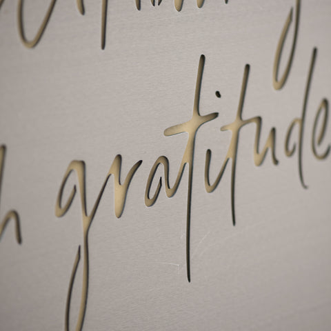 Overflowing with Gratitude Sign