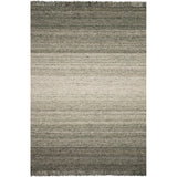 modern olive and beige ombre patterned rug with tassels