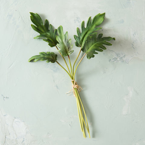 faux philodendron leaf bundle