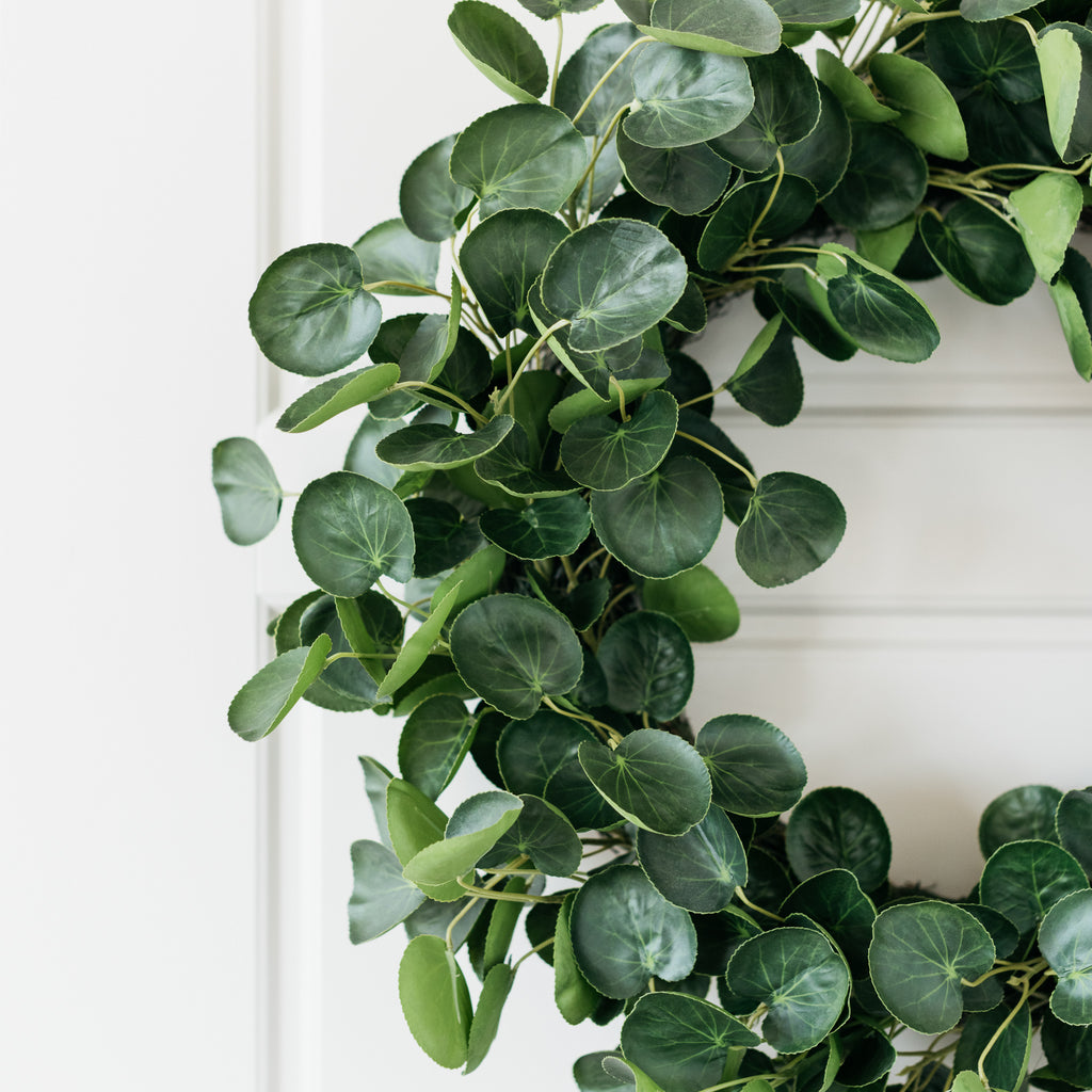 faux pilea wreath
