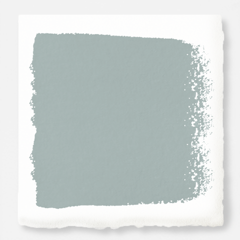 A powder blue with a slight overcast gray tint exterior paint