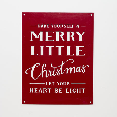 Red Merry Little Christmas Sign