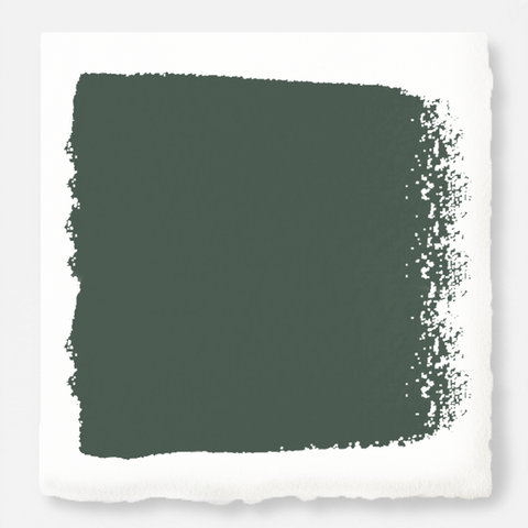 Deep hunter green comparable to pine tree leaves exterior paint