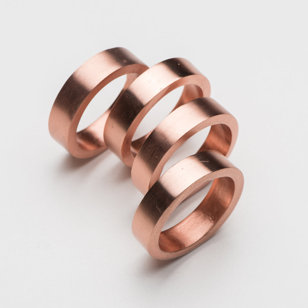 round copper napkin rings