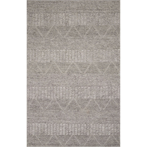 modern light brown beige rug with knotted geometric patterns