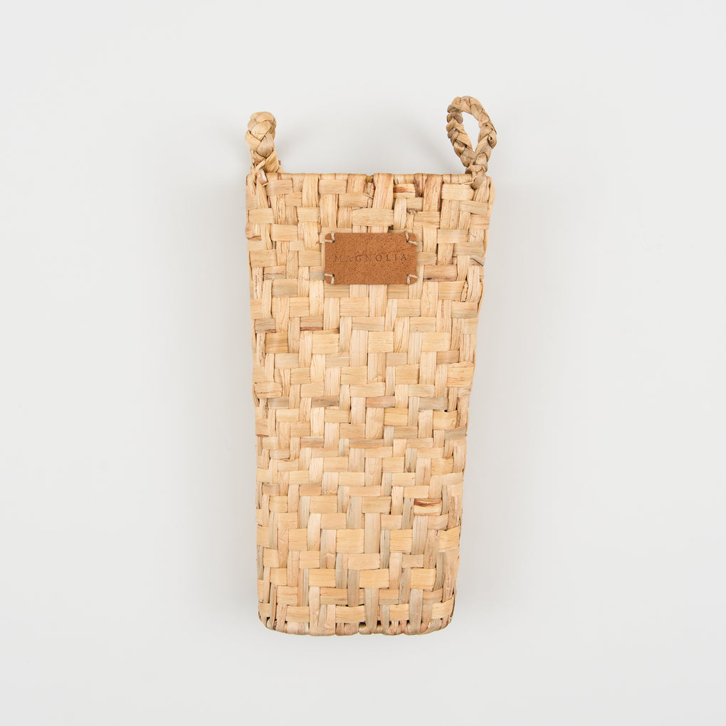 large basketweave wall pocket