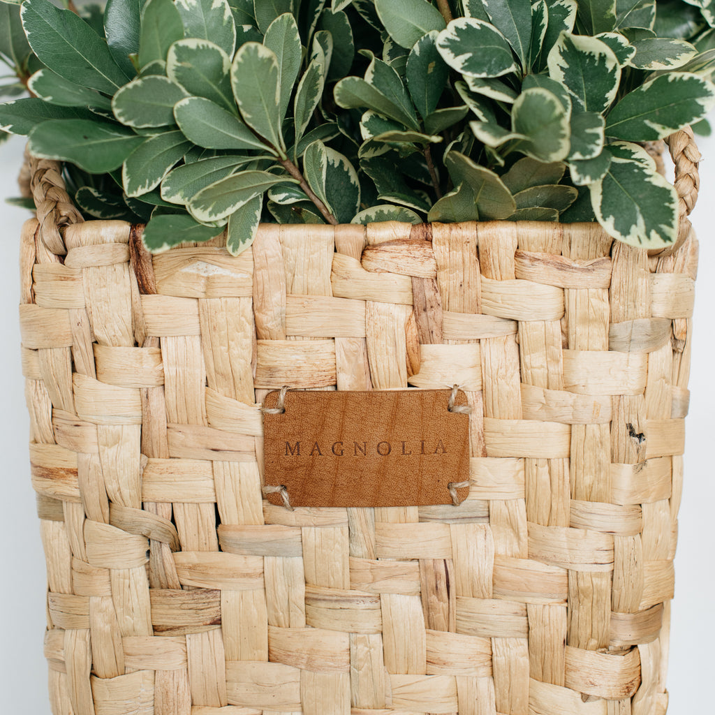 basketweave wall pocket